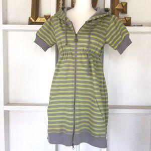 Free People Zip Front Hoodie Dress